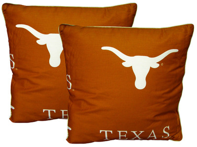 "Texas Longhorns 16"" x 16"" Decorative Pillow Pair 