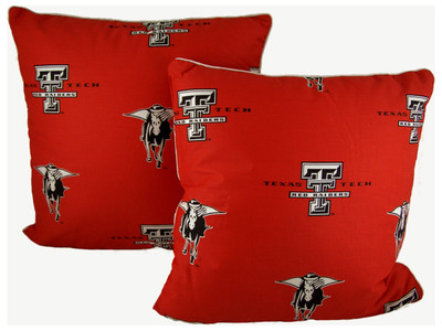 "Texas Tech Red Raiders 16"" x 16"" Decorative Pillow Pair 