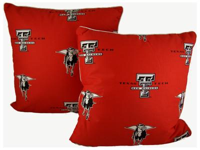 "Texas Tech Red Raiders 16"" x 16"" Decorative Pillow Pair   College Covers  TTUDPPR"