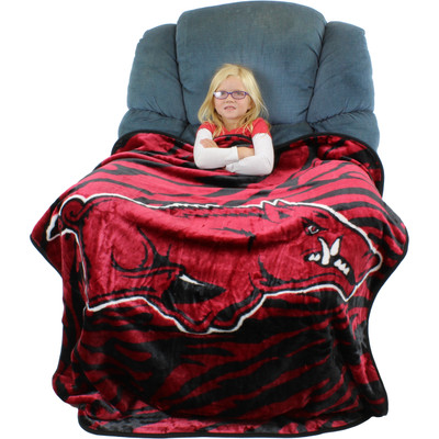 Arkansas Razorback Throw Blanket | College Covers| ARKTHSM