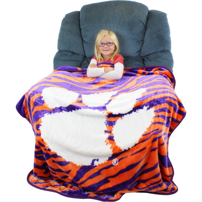 Clemson Tigers Throw Blanket | College Covers| CLETHSM