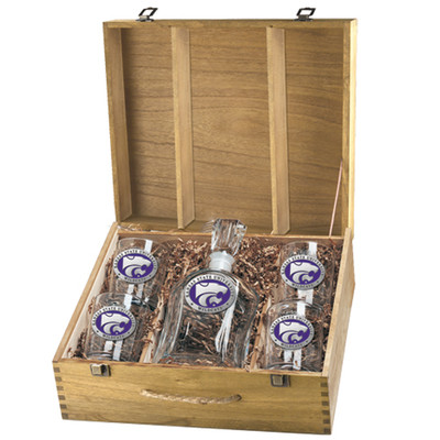 Kansas State Wildcats Decanter Box Set | Heritage Pewter | CPTB10242EP