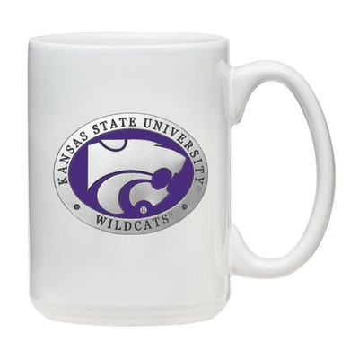 Kansas State Wildcats Coffee Mug Set of 2 | Heritage Pewter | CMCM10242EPWH