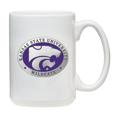 Kansas State Wildcats Coffee Mug Set of 2 | Heritage Pewter | CMCM10242EPWH