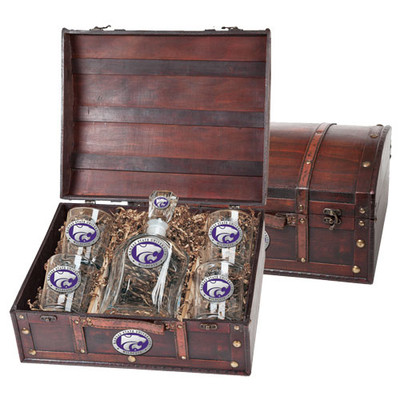Kansas State Wildcats Capitol Decanter Chest Set | Heritage Pewter | CPTC10242EP