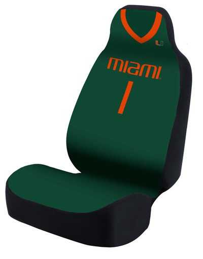 Miami Hurricanes Universal Car Seat Cover| Coverking | USCSELA121