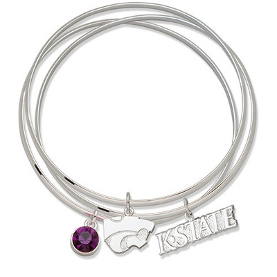 Kansas State Wildcats Triple Bangle Bracelet | Logo Art | KSUTBB