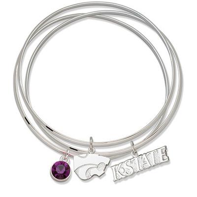 Kansas State Wildcats Triple Bangle Bracelet | Logo Art | KSUTBB
