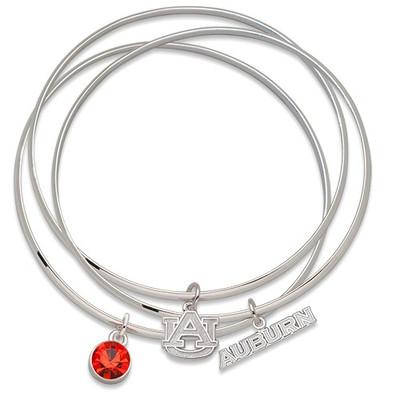 Auburn Tigers Triple Bangle Bracelet | Logo Art | AUTBB