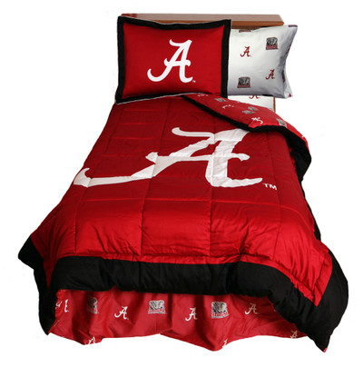Alabama Crimson Tide Reversible Comforter Set - Queen | College Covers | ALACMQU