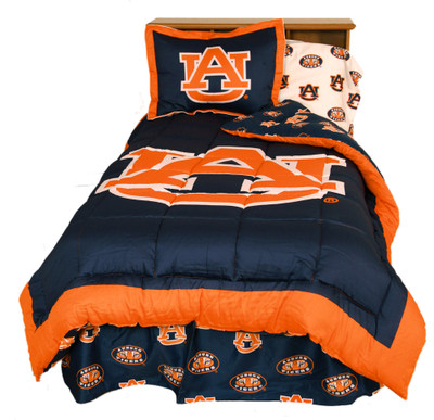 Auburn Tigers Reversible Comforter Set - Twin | College Covers | AUBCMTW