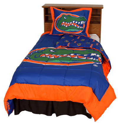 Florida Gators Reversible Comforter Set - Twin | College Covers | FLOCMTW