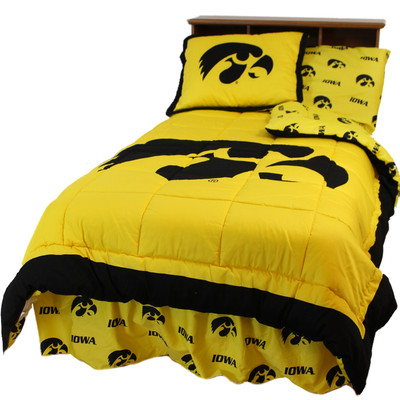 Iowa Hawkeyes Reversible Comforter Set - FULL | College Covers | IOWCMFL