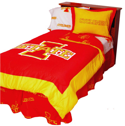 Iowa State Cyclones Reversible Comforter Set - FULL | College Covers | ISUCMFL