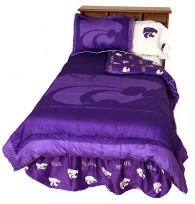 Kansas State Wildcats Reversible Comforter Set - QUEEN | College Covers | KSUCMQU
