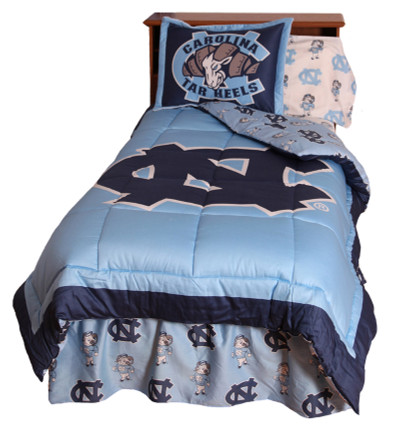 UNC Tarheels Reversible Comforter Set - Twin | College Covers | NCUCMTW