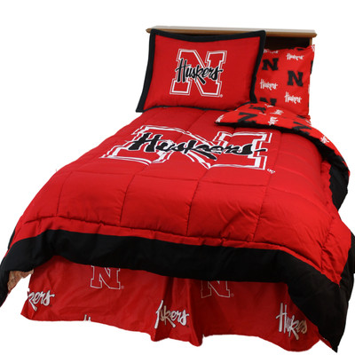 Nebraska Huskers Reversible Comforter Set - FULL | College Covers | NEBCMFL