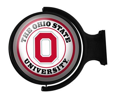 Ohio State Buckeyes Rotating Illuminated LED Wall Sign-Round Block O | Grimm Industries | OS-115-01