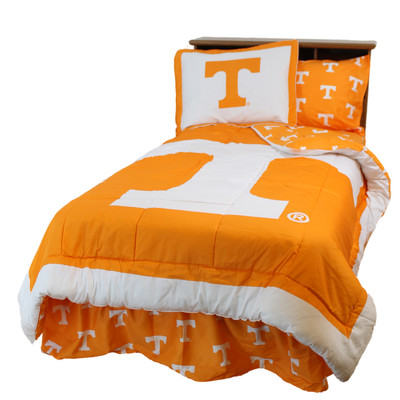 Tennessee Volunteers Reversible Comforter Set - Twin | College Covers | TENCMTW