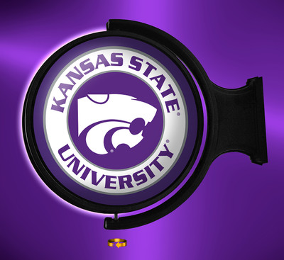Kansas State Wildcats Rotating Illuminated LED Wall Sign-Round Logo |Grimm Industries | KS-115-01
