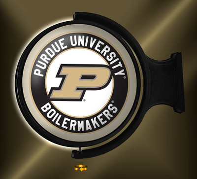 Purdue Boilermakers Rotating Illuminated LED Wall Sign-Round Logo  | Grimm Industries | PU-115-01