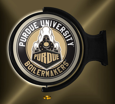 Purdue Boilermakers Rotating Illuminated LED Wall Sign-Round |Grimm Industries |PU-115-02
