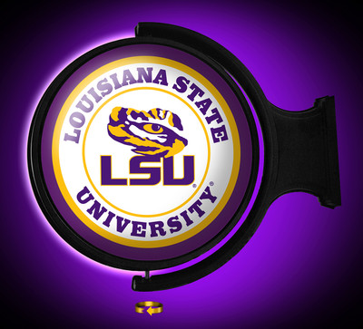 LSU Tigers Rotating Illuminated LED Wall Sign-Round Logo | Grimm Industries | LS-115-01