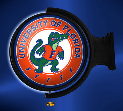 Rotating Illuminated Team Spirit Wall Sign-Round Bubble-UF-Albert | Grimm Industries |UF-115-02