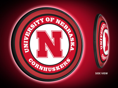 Nebraska Huskers Slimline Illuminated LED Wall Sign-Round-Primary Logo |Grimm Industries | NB-130-01