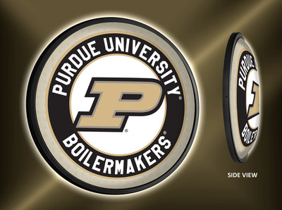 Purdue Boilermakers Slimline Illuminated LED Wall Sign-Round-Primary Logo |Grimm Industries | PU-130-01