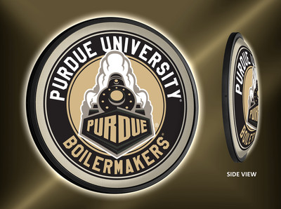Purdue Boilermakers Slimline Illuminated LED Wall Sign-Round | Grimm Industries | PU-130-02