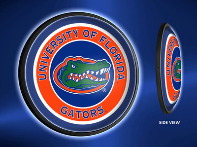 Florida Gators Slimline Illuminated LED Wall Sign-Round - Logo | Grimm Industries | UF-130-01
