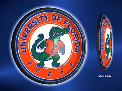 Florida Gators Slimline Illuminated LED Wall Sign-Round-Albert | Grimm Industries | UF-130-02