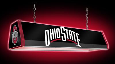 "Ohio State Buckeyes 38"" Standard Pool Table Light-Black |Grimm Industries | OS-310-01"