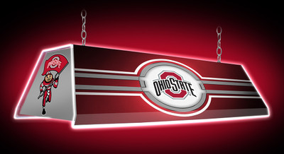 """Ohio State Buckeyes 46"""" Edge Glow Pool Table Light-Red 