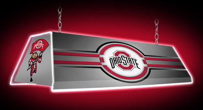 "Ohio State Buckeyes 46"" Edge Glow Pool Table Light-Silver 