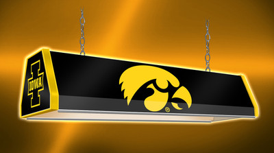 "Iowa Hawkeyes 38"" Standard Pool Table Light-Tigerhawk-Black 