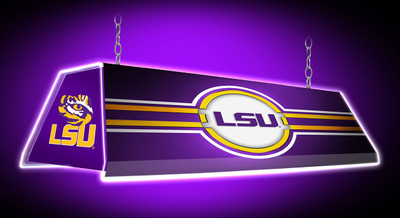 "LSU Tigers 46"" Edge Glow Pool Table Light-Purple 