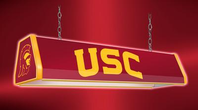 "USC Trojans 38"" Standard Pool Table Light-Red | Grimm Industries | US-310-01"
