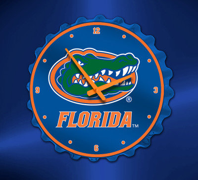 Florida Gators  Bottle Cap Wall Clock- Logo | Grimm Industries | UF-540-01
