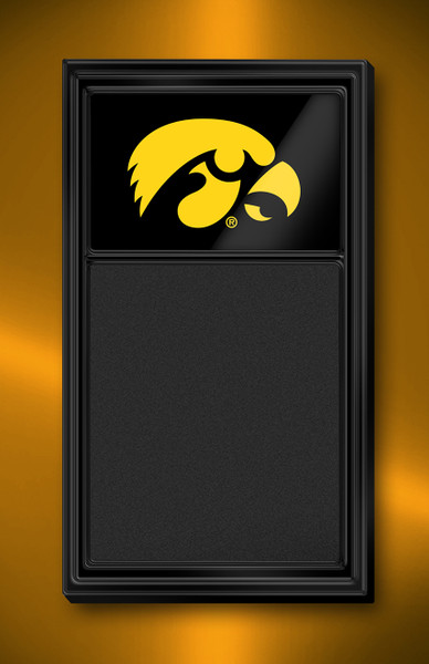 Iowa Hawkeyes Team Board Chalkboard-Tigerhawk | Grimm Industries | IA-620-01