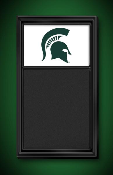 Michigan State Spartans Team Board Chalkboard-Logo White | Grimm Industries | MS-620-02