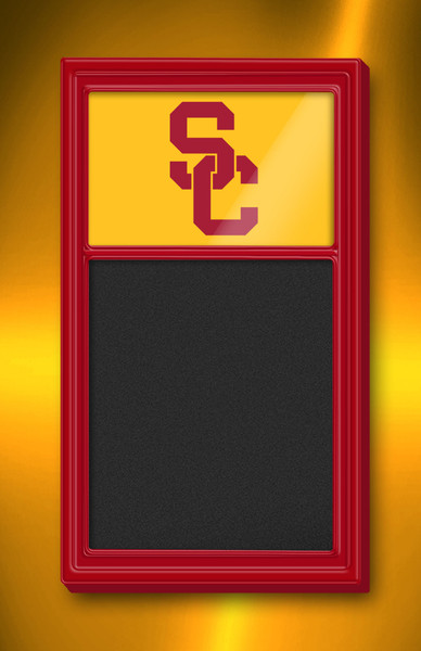 USC Trojans Team Board Chalkboard Logo-Red | Grimm Industries | US-620-02