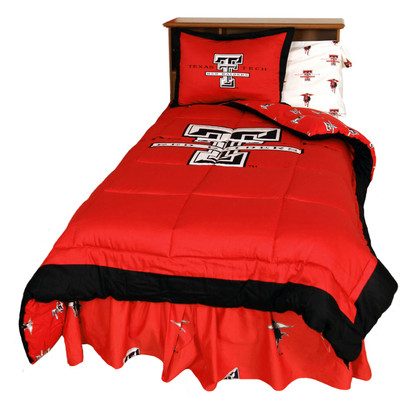 Texas Tech Raiders Reversible Comforter Set - Twin | College Covers | TTUCMTW