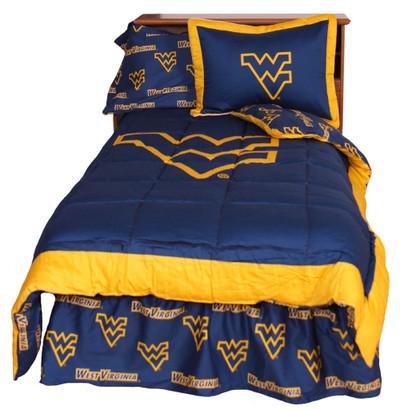 West Virginia Mountaineers Reversible Comforter Set - Twin | College Covers | WVACMTW