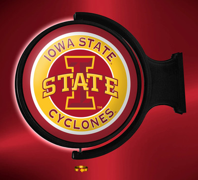 Iowa State Cyclones Rotating Illuminated LED Wall Sign-Round Logo|Grimm industries | IS-115-01
