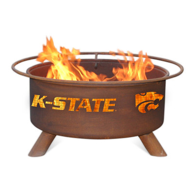 Kansas State Wildcats Portable Fire Pit Grill   Patina   F406
