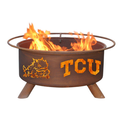 TCU Horned Frogs Portable Fire Pit Grill | Patina | F428