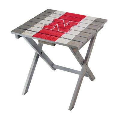 Nebraska Huskers Adirondack Folding Table   Imperial   IMP744-3010