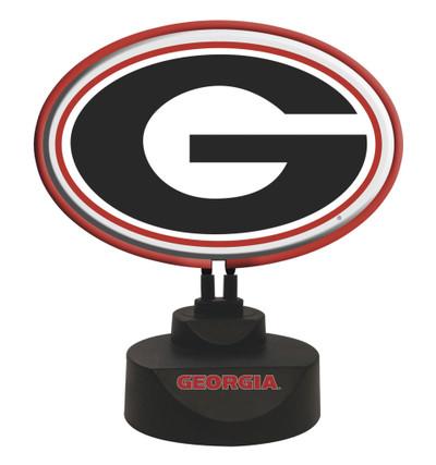 Georgia Bulldogs Logo Neon Desk Lamp | Memory Company | MEM-GA-1618